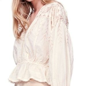 Free People Counting Stars shimmer pleasant blouse